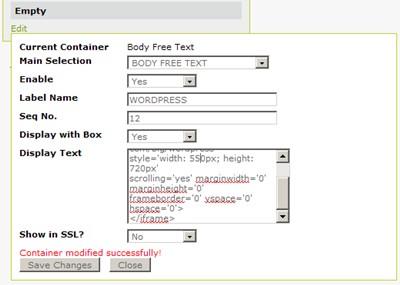 VP-ASP Shopping Cart - Online Help Guides - Integrate Wordpress